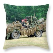 A Recce Unit Of The Belgian Army Throw Pillow by Luc De Jaeger