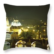 A View Down The Vltava Throw Pillow by Taylor S. Kennedy