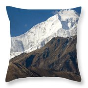 A View Of Dhaulagiri From The North Throw Pillow by Stephen Sharnoff