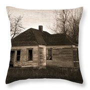 Abandoned Farm House Throw Pillow by Richard Wear