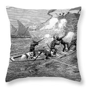 AFRICA: SLAVE TRADE, 1892 Throw Pillow by Granger