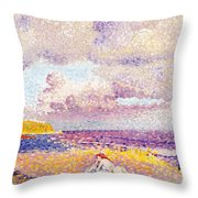 An Incoming Storm Throw Pillow by Henri-Edmond Cross