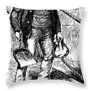 Anti-immigrant Cartoon Throw Pillow by Granger