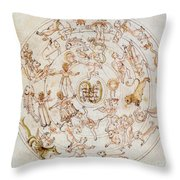 Aratuss Constellations Throw Pillow by Science Source