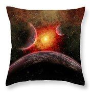 Artist Concept Illustrating The Stellar Throw Pillow by Mark Stevenson
