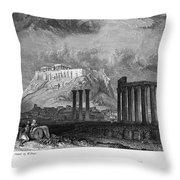 Athens: Olympian Zeus Throw Pillow by Granger