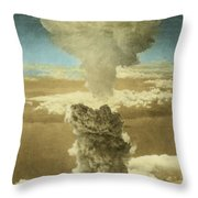 Atomic Bombing Of Nagasaki Throw Pillow by Omikron