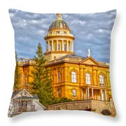 Auburn Courthouse Throw Pillow by Cheryl Young