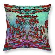 Autumn Flourish Throw Pillow by Tim Allen