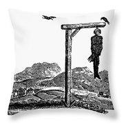 Bewick: Hanged Man Throw Pillow by Granger