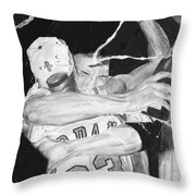 Bulls Celebration Throw Pillow by Tamir Barkan