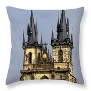 Church Of Our Lady Before Tyn - Prague Cz Throw Pillow by Christine Till