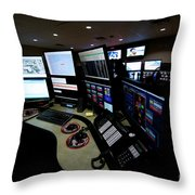 Control Room Center For Emergency Throw Pillow by Terry Moore