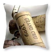 Corks Of French Wine Throw Pillow by Bernard Jaubert