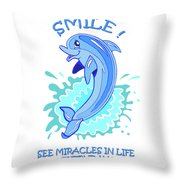 Darla The Dolphin Throw Pillow by John Keaton