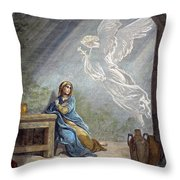 DOR�: THE ANNUNCIATION Throw Pillow by Granger