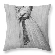 Dorothy Bland Jordan Throw Pillow by Granger