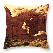 Double Arch Throw Pillow by Marty Koch