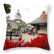 Downtown Kingston Throw Pillow by Valentino Visentini