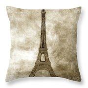 Eiffel Tower. Paris Throw Pillow by Bernard Jaubert
