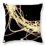 Electric Lines Throw Pillow by Setsiri Silapasuwanchai