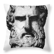 Euripides Throw Pillow by Granger