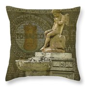 Even Angels Need A Smoke Throw Pillow by Ron Jones
