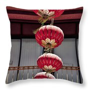 Four Lanterns Throw Pillow by Kelley King