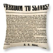 Freedom To Slaves Throw Pillow by Photo Researchers, Inc.