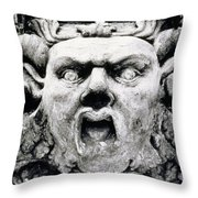 Gargoyle Throw Pillow by Simon Marsden