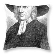 GEORGE FOX (1624-1691) Throw Pillow by Granger