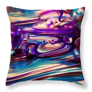 Glass Macro II Throw Pillow by David Patterson
