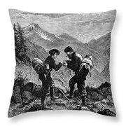 GOLD PROSPECTORS, 1876 Throw Pillow by Granger