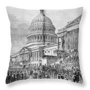 Grants Inauguration, 1873 Throw Pillow by Granger