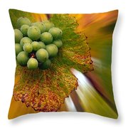 Grapes Throw Pillow by Jean Noren
