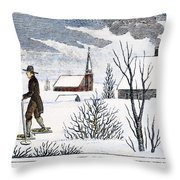 Great Snow Of 1717 Throw Pillow by Granger
