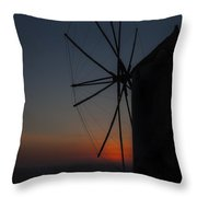 Greek Windmill Throw Pillow by Joana Kruse