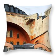 Hagia Sophia Byzantine Architecture Throw Pillow by Artur Bogacki
