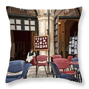 Hanging Out Throw Pillow by Madeline Ellis