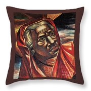 Harriet Tubman, African-american Throw Pillow by Photo Researchers