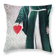 Heart Throw Pillow by Joana Kruse