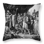 Henry I (876-936) Throw Pillow by Granger
