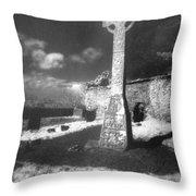 High Cross Throw Pillow by Simon Marsden