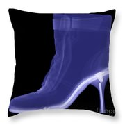 High Heel Boot X-ray Throw Pillow by Ted Kinsman