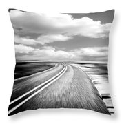 Highway Run Throw Pillow by Scott Pellegrin