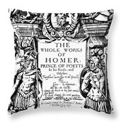 Homer Title Page, 1616 Throw Pillow by Granger
