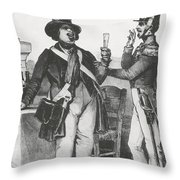 Honore De Balzac, French Author Throw Pillow by Photo Researchers