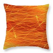 Hot Sparks Throw Pillow by Carlos Caetano
