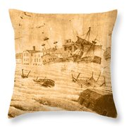 Hurricane, 1815 Throw Pillow by Science Source