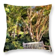I Waited For You Today Throw Pillow by Angelina Vick